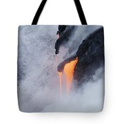 Flowing Pahoehoe Lava Tote Bag