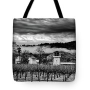 Fog Over The Vineyard Tote Bag