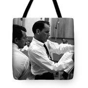 Frank Sinatra And Dean Martin At Capitol Records Studios 1958. Tote Bag