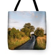 Freshly Harvested Fields Of Barley In Countryside Landscape Bath Tote Bag
