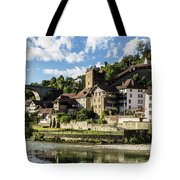 Fribourg Old Town In Switzerland Tote Bag