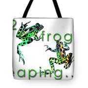 2 Frogs Leaping Tote Bag