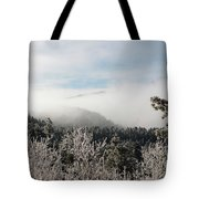 Frosty Pikes Peak Tote Bag
