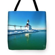Frozen Lighthouse Tote Bag