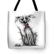 Fuzzy Dog Tote Bag