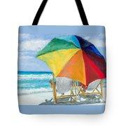 Beach Umbrella By Marilyn Nolan-johnson Tote Bag