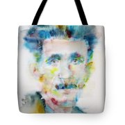 George Orwell - Watercolor Portrait Tote Bag