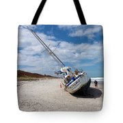 Ghost Ship Beached By Hurricane Irma Tote Bag