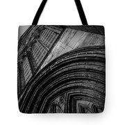Glasgow Cathedral Bw Tote Bag