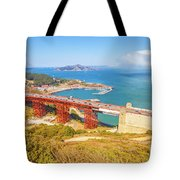 Golden Gate Bridge Vista Point Tote Bag