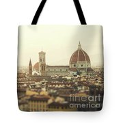 Golden Sunset Of Florence, Italy. Tote Bag