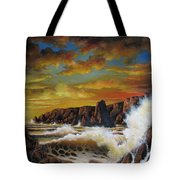 Golden Yellow Sunset Tote Bag
