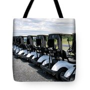 Golfing Golf Carts Tote Bag