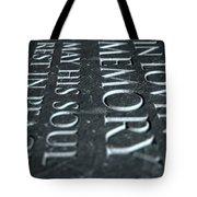 Gravestone In Loving Memory Tote Bag