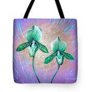 2 Green Orchids. Sunrise Tote Bag