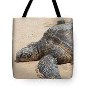 Green Sea Turtle With Gps Tote Bag