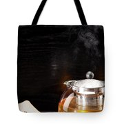 Gunpowder Green Tea In Glass Teapot Tote Bag