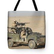 Gurkhas Patrol Afghanistan In A Land Tote Bag