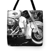 White Harley Davidson Bw Tote Bag by Stefano Senise