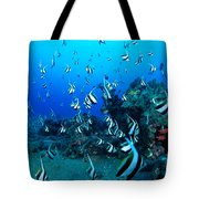 Hawaiian Reef Scene Tote Bag