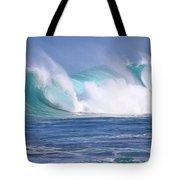 Hawaiian Winter Waves Tote Bag