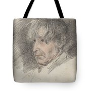 Head Of An Old Man Tote Bag
