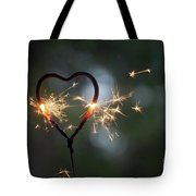 Heart Shape Sparkler Tote Bag