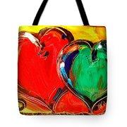 2 Hearts Tote Bag