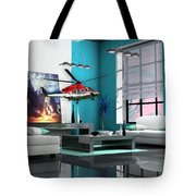 Helicopter Art Tote Bag