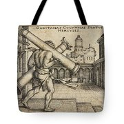 Hercules Carrying The Columns Of Gaza Tote Bag