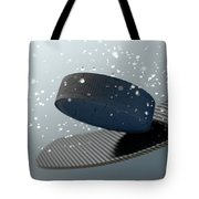 Hockey Puck Striking Stick In Slow Motion Tote Bag