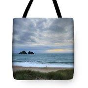 Holywell Bay Sunset Tote Bag