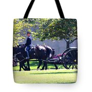 Horse And Caisson Team At Arlington Cemetery Tote Bag