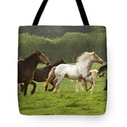 Horses On The Meadow Tote Bag