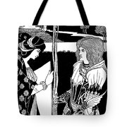 How Morgan Le Fay Gave A Shield To Sir Tristran Tote Bag