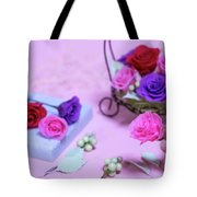 How To Make Preservrd Flower And Clay Flower Arrangement, Colorf Tote Bag