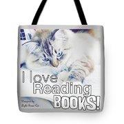 I Love Reading Books Tote Bag