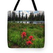 Ibantik Lake Trail Tote Bag