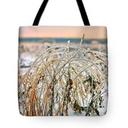 Ice On Branches Tote Bag