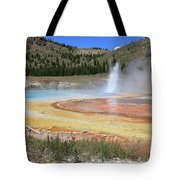 Imperial Geyser, Yellowstone Np Tote Bag