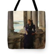 In The Belfry Of The Campanile Of St Marks Venice Henry Woods Tote Bag