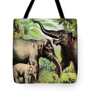 Indian Elephant, Endangered Species Tote Bag