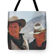 Jack Palance And Lee Marvin Monte Walsh Set Old Tucson Arizona 1969 Tote Bag