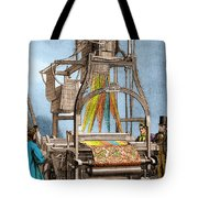 Jacquard Loom For Weaving Textiles Tote Bag
