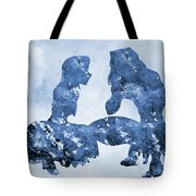 Jane And Tarzan-blue Tote Bag