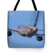 Jet Blue Tote Bag