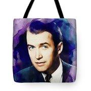 Jimmy Stewart, Vintage Movie Star Tote Bag