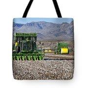 John Deere Cotton Pickers Harvesting Tote Bag
