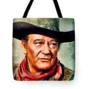 John Wayne, Hollywood Legend By John Springfield Tote Bag