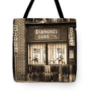 Johnson City Tennessee - Gun Shop Tote Bag